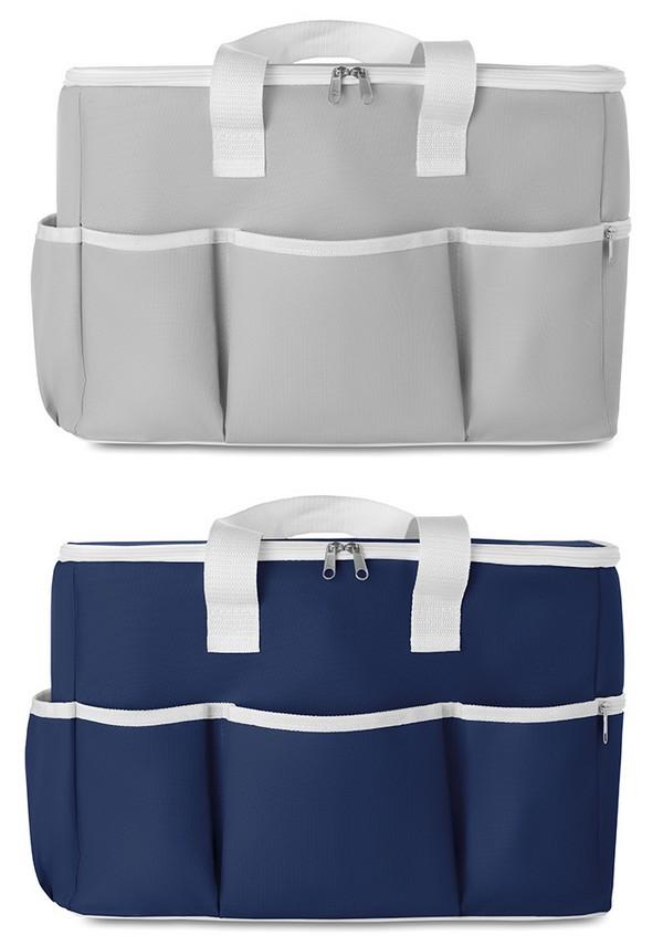 Hűtőtáska, elülső zsebekkel, kék