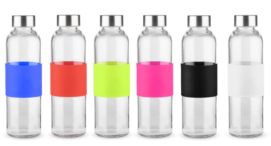 Ogromnie Butelka szklana GLASSI 520 ml- 100 szt. z grawerem FS98